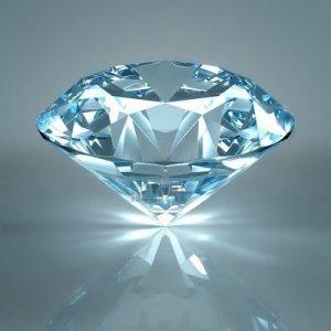 8612055-diamond-jewel-isolated-on-light-blue-background-beautiful-sparkling-diamond-on-a-light-reflective-su