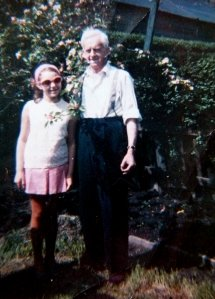 Ten years old with Great-Grandad