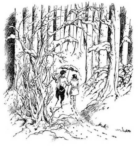 The Lion, The Witch and the Wardrobe by C.S.Lewis; Illustration Pauline Baynes