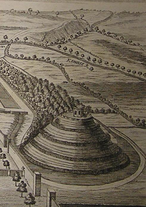 Marlborough Mound, William Stukeley 1723