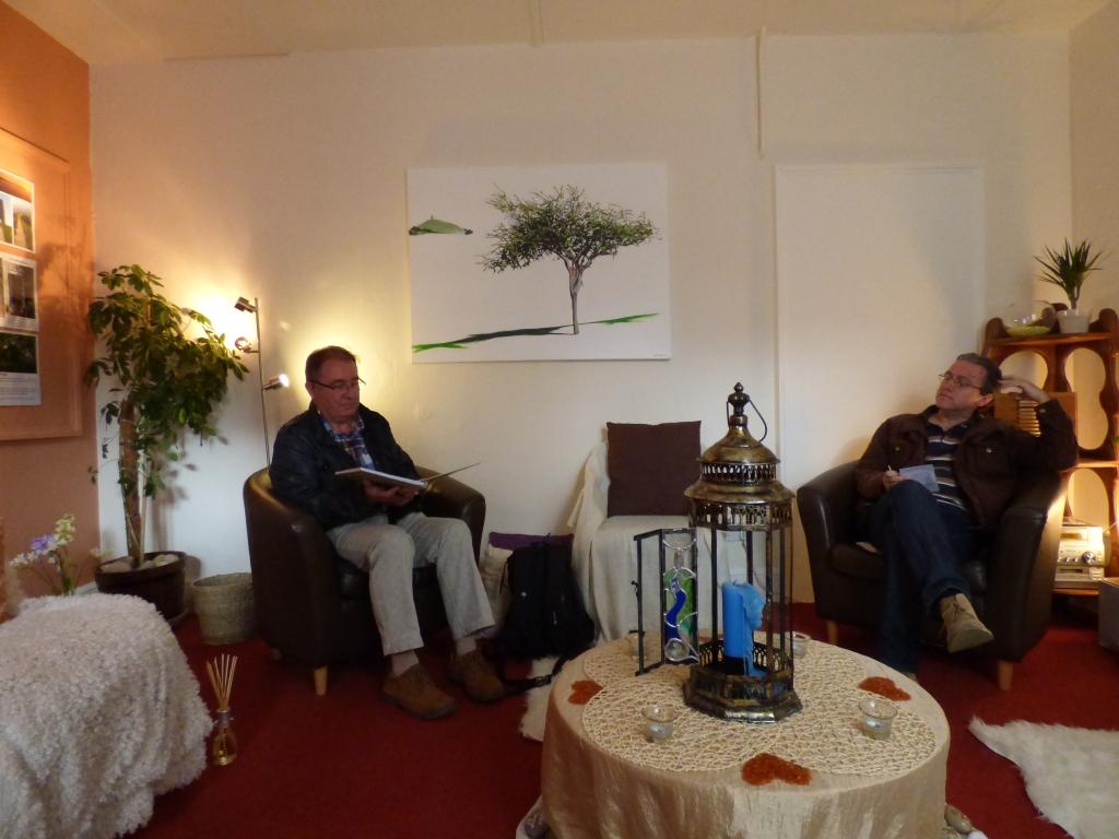 Steve and Stuart at the Glastonbury Sanctuary
