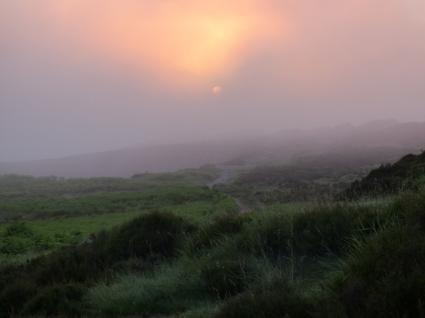 Morning mists near Backstone Circle