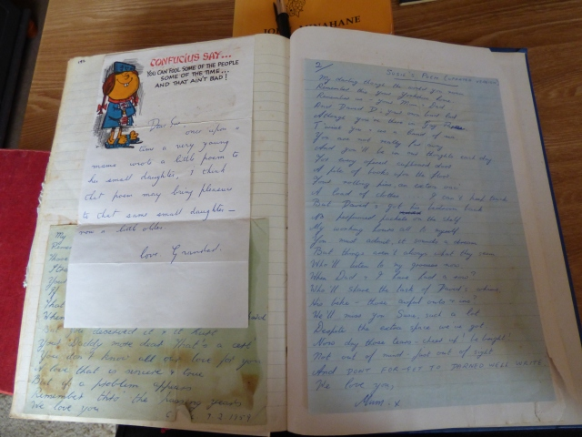 A letter from Grandad and poems twenty years apart from my mother.