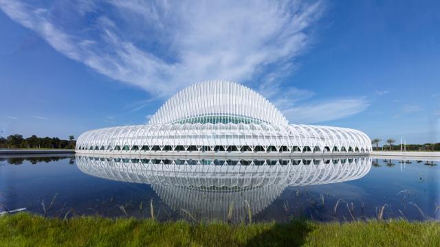 Florida Polytechic Bookless Library, image by Santiago Calatrava Dezeen Ban