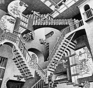 Relativity by M. C. Escher - 1953