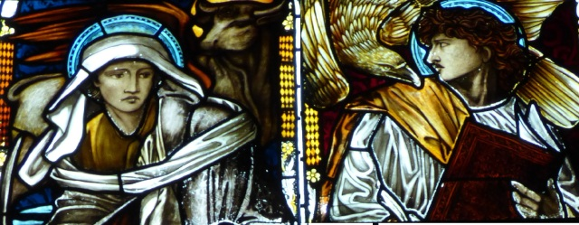 Pre-Raphaelite stained glass from Edward Burne-Jones and William Morris