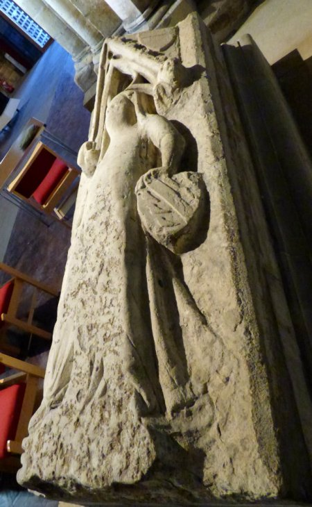 Tomb of margaret de Pickworth, her husband lies in the aisle opposite.