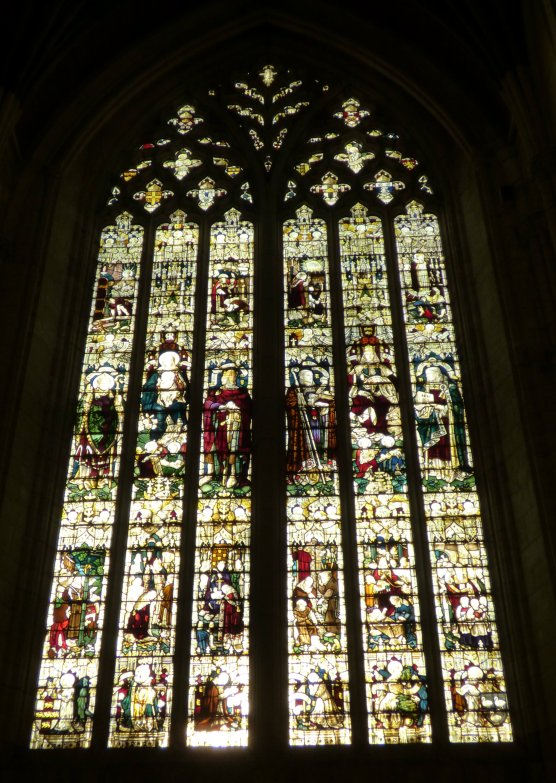 Window in the south transept c.1914 (Click to view larger image)