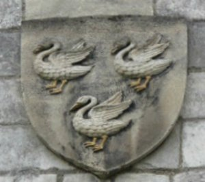 The three swans are the emblem of Selby Abbey and Benedict saw them as symbolic of the Trinity