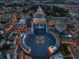 Aerial view of St Peter's Square, Vatican Image: airpano.com