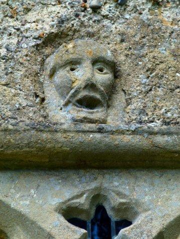 Ibstone church - wondrous head