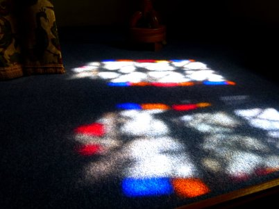 light through stained glass, Ibstone