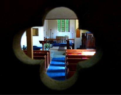 Interior, Ibstone church