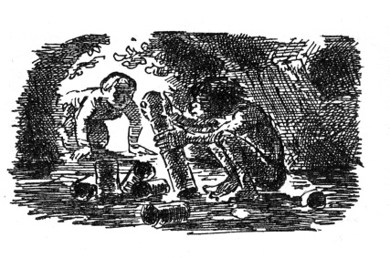 Stig of the Dump by Clive King. illustration by Edward Ardizzone © Puffin Books