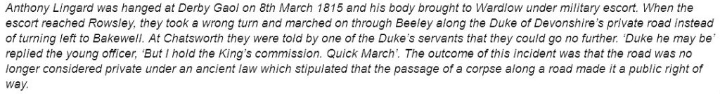 From: Wormhill- The History of a High Peak Village, by Christopher Drewry