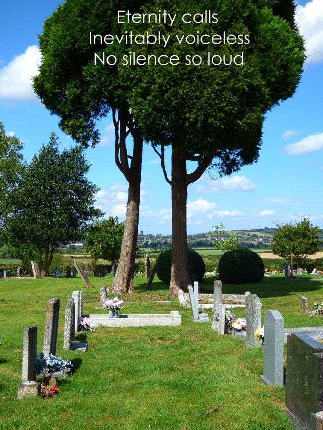 Eternity calls Inevitably voiceless No silence so loud
