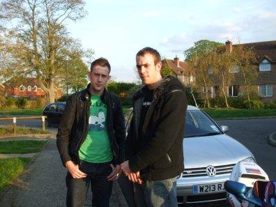 Nick and Alex, April 2009