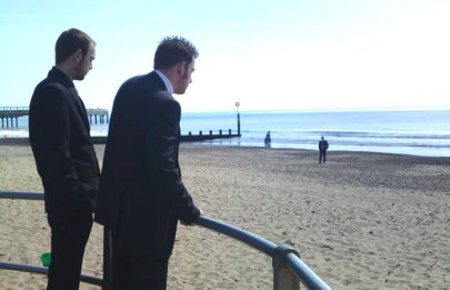 Nick and Alex, Bournemouth, the day of the trial