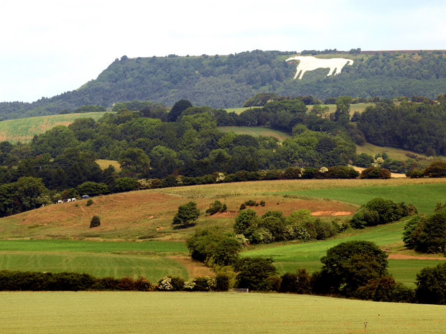 Kilburn White Horse by Andy Beecroft for geograph.org (CCL)