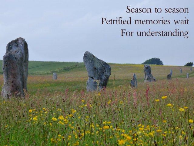 Season to season Petrified memories wait For understanding