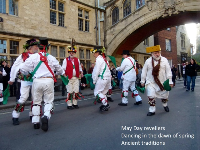 May Day revellers