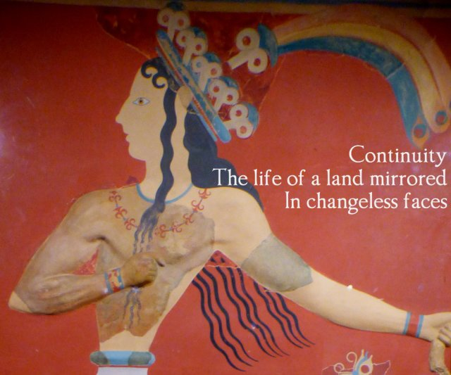 Continuity The life of the land mirrored In changeless faces