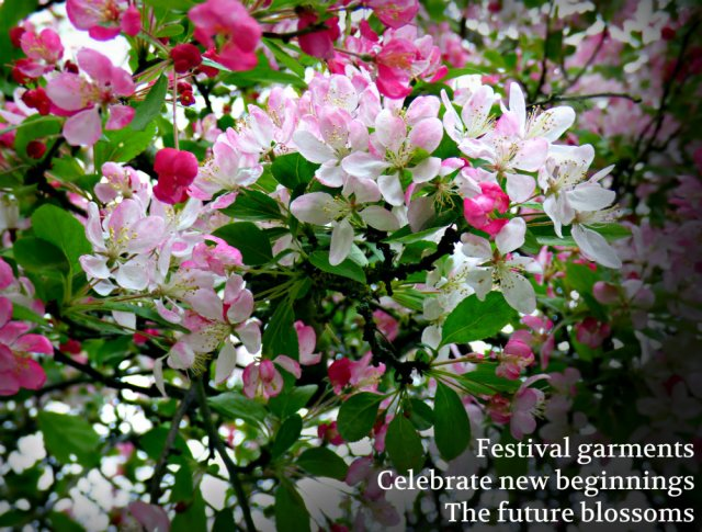 Festival garments Celebrate new beginnings The future blossoms