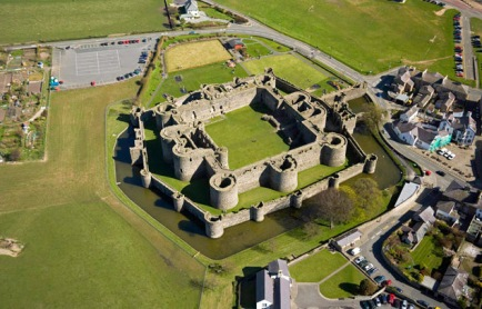 Aerial view Beaumaris Castle (CD34) Anglesey North Castles Historic Sites