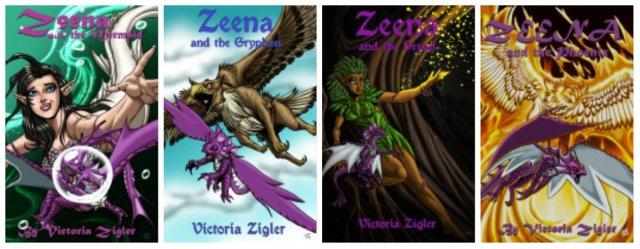 covers of Zeena books