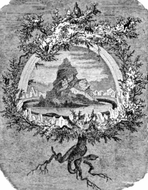 Mythological tree of Norse legends, Yggdrasil. (USPD. pub.date/Commons.wikimedia.org)