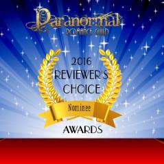 logo of paranormal romance guild award nominee