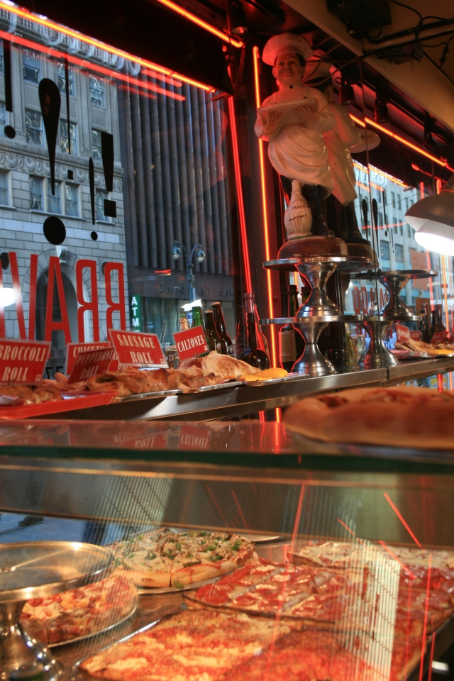 Pizza shop in New York City