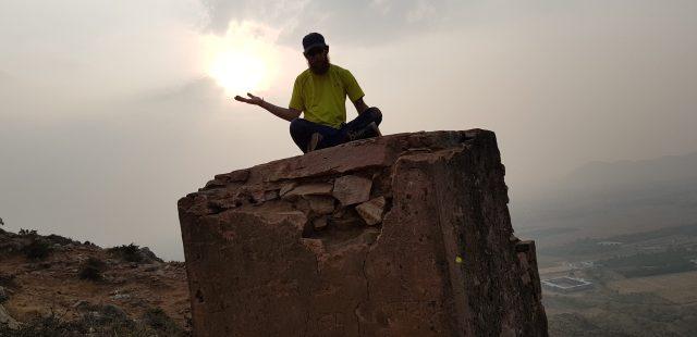 Nick on a mountain above Pushkar