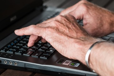 hands typing at laptop. Image from Pixabay