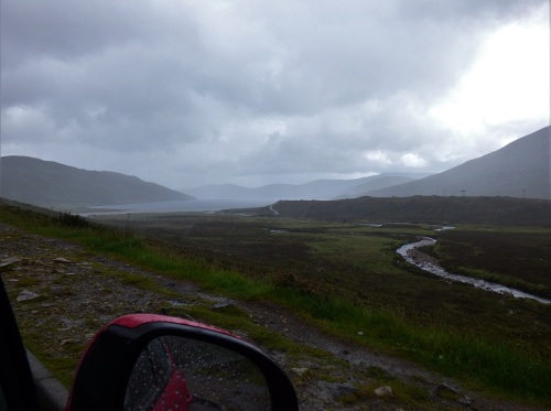 misty morning road